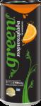 Green cola orange
